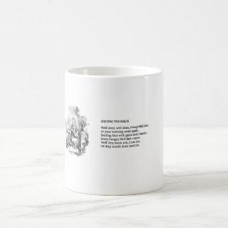 Vintage mug - feeding the birds