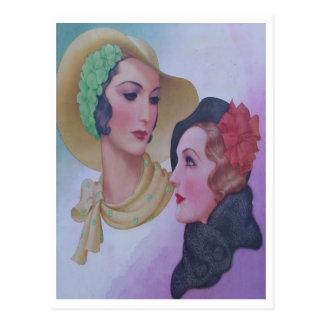 Vintage mujer 1932 postales