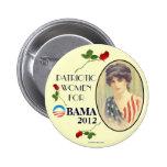 Vintage mujer para el pinback político de OBAMA 20 Pins