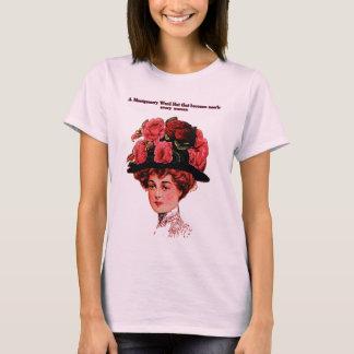 Vintage mujer; publicidad de s playera