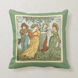 Vintage mulberry bush throw pillow