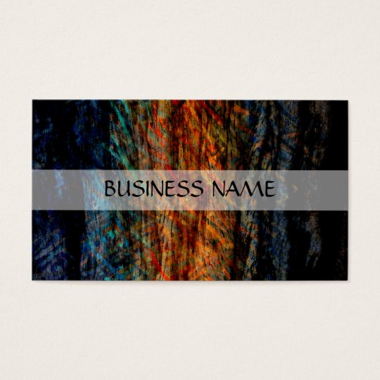 Vintage Multi-color Wood Abstract Art 2 Business Card