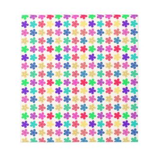 Vintage Multi Colored Floral Pattern Memo Pads