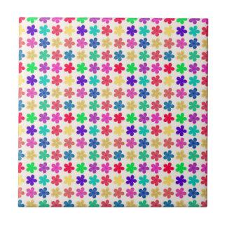 Vintage Multi Colored Floral Pattern Ceramic Tiles