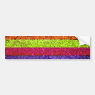 Vintage multicolor pegatina para auto