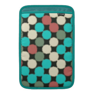 Vintage Multicolored Circles. Geometric Pattern Sleeve For MacBook Air