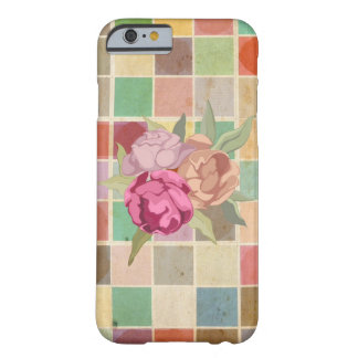 Vintage Multicolored Square Background Pattern iPhone 6 Case