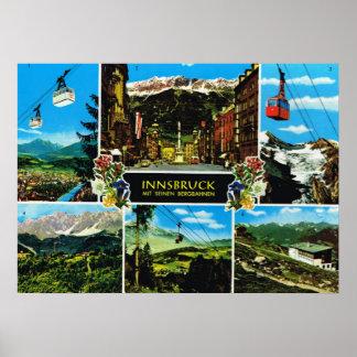 Vintage   multiview de Austria, Innsbruck Poster