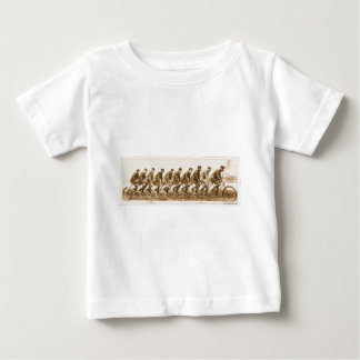 Vintage multple person Tandem Bicycle old photo Baby T-Shirt