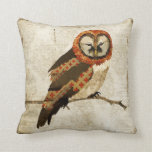 Vintage Mums  Owl   Mojo Pillow