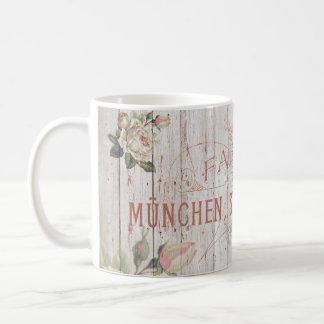 vintage,Munich,roses,typography,shabbychic,rose Coffee Mug