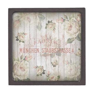 vintage,Munich,roses,typography,shabbychic,rose Gift Box