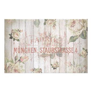 vintage,Munich,roses,typography,shabbychic,rose Stationery