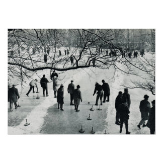 Vintage  Munich, Winter games on the ice Poster