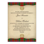 Vintage Munro Tartan Plaid Wedding Invitations