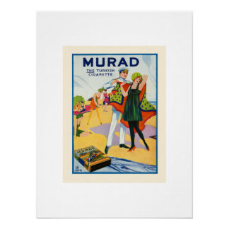 Vintage Murad Ad from the Art Deco Style Poster