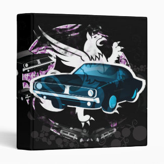 Vintage Muscle Car 3 Ring Binder