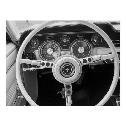 Vintage Muscle Car Dashboard Poster