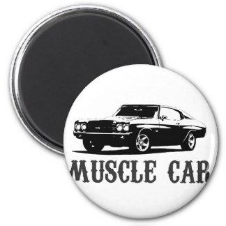 vintage muscle car magnet