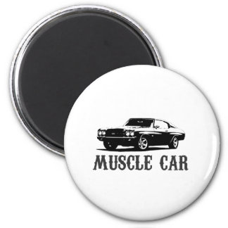 vintage muscle car magnet
