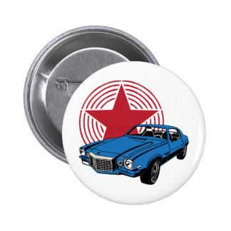 Vintage Muscle Car Pinback Button