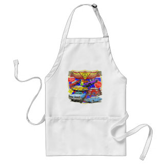 Vintage Muscle Cars Of Yesterday Adult Apron