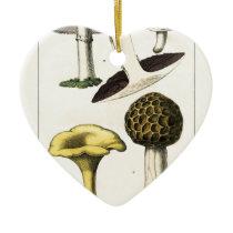 Vintage Mushroom Botanical Print Ceramic Ornament