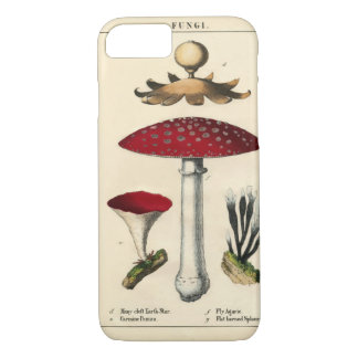 Vintage Mushroom Botanical Print iPhone 7 Cases