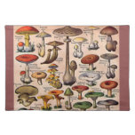 Vintage Mushroom Guide Cloth Place Mat