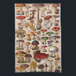 "Vintage Mushroom Guide Hand Towel<br><div class=""desc"">Vintage Mushroom Guide kitchen towel. Lovingly restored vintage image from days gone bye that is too precious to let slip into history. This is a vintage image and is NOT to be used as a mushroom guide to determine if a mushroom is edible.</div>"