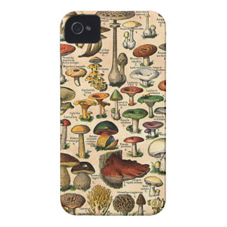 Vintage Mushroom Guide iPhone 4 Barely-There iPhone 4 Case