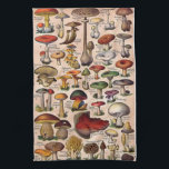 """Vintage Mushroom Guide Kitchen Towel<br><div class=""""desc"""">Vintage Mushroom Guide kitchen towel. Lovingly restored vintage image from days gone bye that is too precious to let slip into history. This is a vintage image and is NOT to be used as a mushroom guide to determine if a mushroom is edible.</div>"""