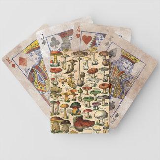 Vintage Mushroom Guide Playing Cards
