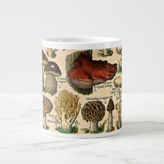 Vintage Mushroom Guide Specialty Mugs Extra Large Mug