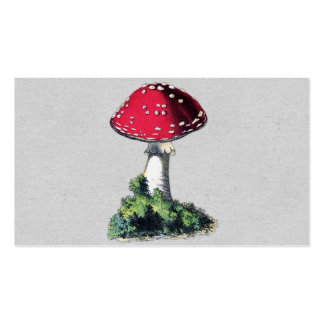 Vintage Mushroom Print Business Card Templates