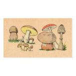 Vintage Mushroom Print Double-Sided Standard Business Cards (Pack Of 100)