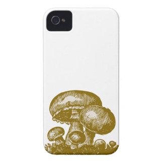 Vintage mushroom print foodie shroom sketch case iPhone 4 Case-Mate case