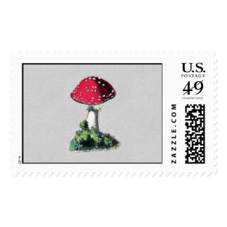 Vintage Mushroom Print Stamps
