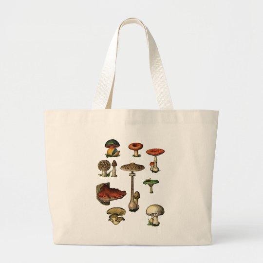 Vintage Mushrooms Jumbo Tote