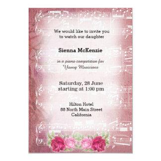 Vintage Music 5x7 Paper Invitation Card