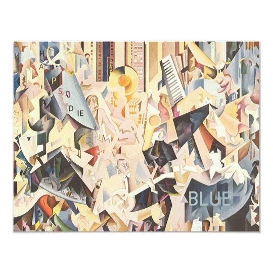Vintage Music, Art Deco Jazz, Rhapsody in Blue Card