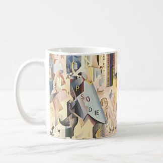 Vintage Music, Art Deco Jazz, Rhapsody in Blue Coffee Mug