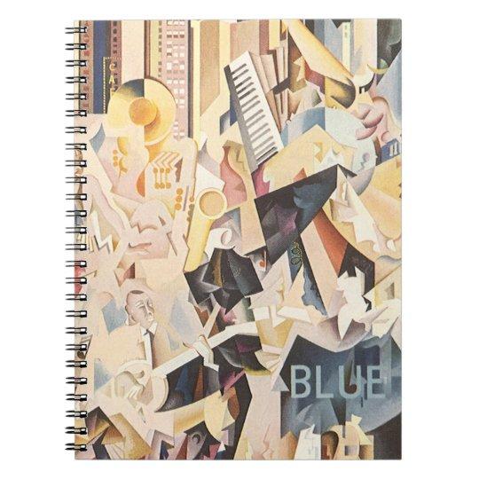 Vintage Music, Art Deco Jazz, Rhapsody in Blue Notebook