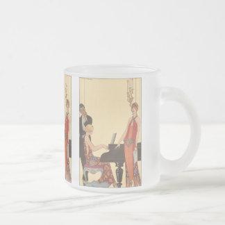 Vintage Music, Art Deco Pianist Musician Singer Coffee Mugs