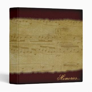 Vintage Music binder