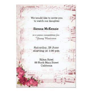 Solo concert invitations announcements zazzle vintage music card stopboris Gallery