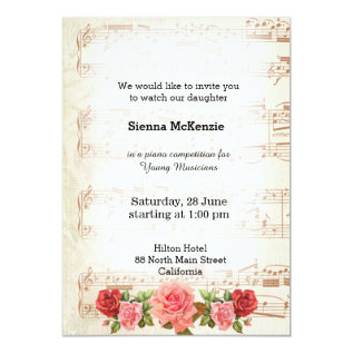 Vintage Music Card at Zazzle