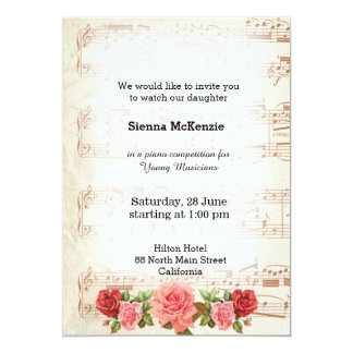 Choir invitations announcements zazzle vintage music card stopboris Gallery