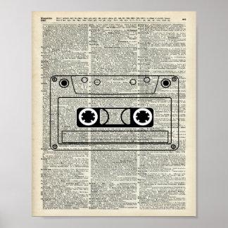 Vintage Music Cassette Poster