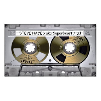 Vintage Music Cassette Tape Look Double-Sided Standard Business Cards (Pack Of 100)